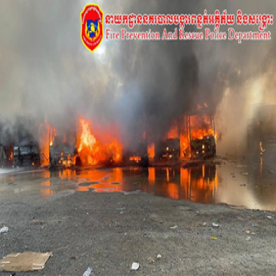 Massive fire at bus warehouse claims one life and destroys  23 buses